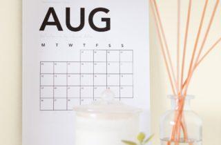 美容室LaLa8月のスケジュール